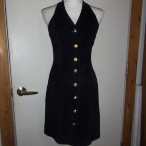 Margaret Godfrey Vintage Suede Jumper Dress 8